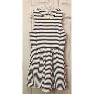 J. Crew Black & White Striped Dress